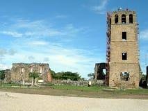 πόλη παλαιός Παναμάς εκκλησιών καθεδρικών ναών στοκ εικόνα