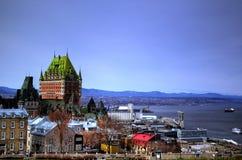 πόλη παλαιό Κεμπέκ Στοκ Εικόνες