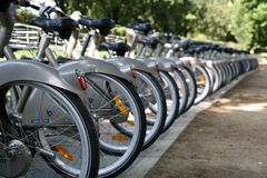 πόλη Παρίσι ποδηλάτων Στοκ Εικόνες
