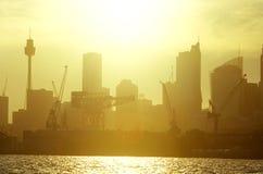 πόλη πλημμυρισμένο φως Σύδνεϋ στοκ φωτογραφία