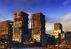 πόλη που καταστρέφεται Στοκ Εικόνα
