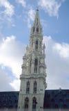 πόλη πύργων αιθουσών των Βρυξελλών Στοκ Εικόνες
