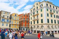 Πόλη στο κέντρο της πόλης Ελλάδα της Κέρκυρας Στοκ εικόνες με δικαίωμα ελεύθερης χρήσης