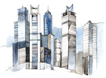 πόλη σύγχρονη απεικόνιση αποθεμάτων
