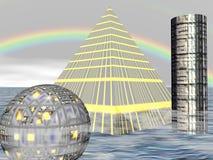 πόλη τέσσερα μέλλον απεικόνιση αποθεμάτων
