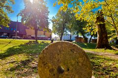 Πόλη της άποψης πάρκων και οδών Virovitica Στοκ φωτογραφία με δικαίωμα ελεύθερης χρήσης