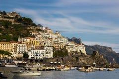Πόλη της Αμάλφης στη νότια Ιταλία Στοκ Εικόνες