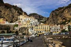Πόλη της Αμάλφης στη νότια Ιταλία Στοκ φωτογραφίες με δικαίωμα ελεύθερης χρήσης