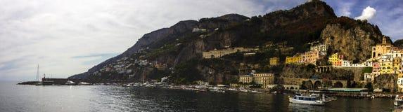 Πόλη της Αμάλφης στη νότια Ιταλία Στοκ Φωτογραφίες