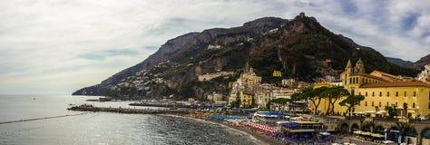 Πόλη της Αμάλφης στη νότια Ιταλία Στοκ εικόνα με δικαίωμα ελεύθερης χρήσης
