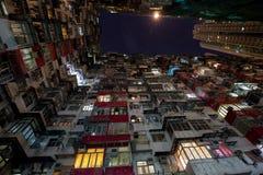 Πόλη της Ασίας τή νύχτα στοκ φωτογραφία