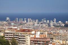 Πόλη της εικονικής παράστασης πόλης της Βαρκελώνης στην Καταλωνία στοκ εικόνες