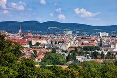 Πόλη της εικονικής παράστασης πόλης της Βιέννης Στοκ Εικόνα