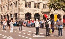 Πόλη της Ζυρίχης στην ελβετική εθνική μέρα Στοκ Εικόνες