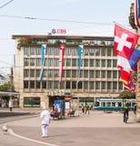 Πόλη της Ζυρίχης στην ελβετική εθνική μέρα Στοκ φωτογραφία με δικαίωμα ελεύθερης χρήσης