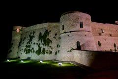 Πόλη της Ιταλίας Ortona στην αδριατική θάλασσα με το μεγάλο μεσαιωνικό κάστρο λιμένων και τη συμπαθητική ιστορική περιοχή του κεν Στοκ εικόνα με δικαίωμα ελεύθερης χρήσης