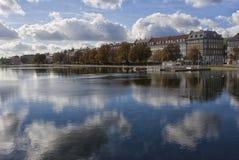 Πόλη της Κοπεγχάγης Στοκ Εικόνες
