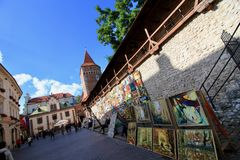 Πόλη της Κρακοβίας, παλαιές μεσαιωνικές οχυρώσεις κωμοπόλεων στοκ εικόνα με δικαίωμα ελεύθερης χρήσης