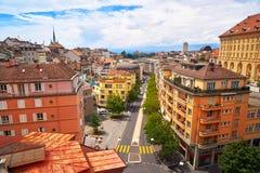 Πόλη της Λωζάνης στην Ελβετία Ελβετός Στοκ Φωτογραφίες