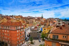 Πόλη της Λωζάνης στην Ελβετία Ελβετός Στοκ Φωτογραφία