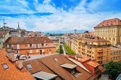Πόλη της Λωζάνης στην Ελβετία Ελβετός Στοκ φωτογραφία με δικαίωμα ελεύθερης χρήσης