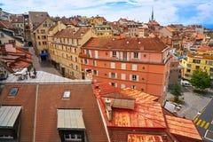 Πόλη της Λωζάνης στην Ελβετία Ελβετός Στοκ φωτογραφίες με δικαίωμα ελεύθερης χρήσης