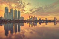 Πόλη της Μπανγκόκ στο κέντρο της πόλης στοκ εικόνα με δικαίωμα ελεύθερης χρήσης