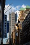 Πόλη της Νέας Υόρκης/ΗΠΑ - 13 Ιουλίου 2018: New York Times που χτίζουν την άποψη Στοκ φωτογραφία με δικαίωμα ελεύθερης χρήσης