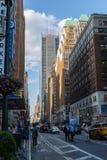 Πόλη της Νέας Υόρκης/ΗΠΑ - 13 Ιουλίου 2018: New York Times που χτίζουν την άποψη Στοκ Φωτογραφία