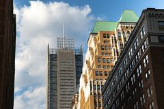 Πόλη της Νέας Υόρκης/ΗΠΑ - 13 Ιουλίου 2018: New York Times που χτίζουν την άποψη Στοκ Εικόνα