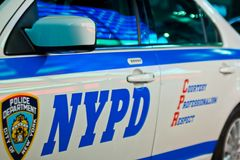 Πόλη της Νέας Υόρκης, ΗΠΑ, τον Αύγουστο του 2012: Περιπολικό της Αστυνομίας NYPD στοκ εικόνες