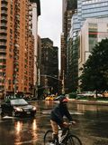 Πόλη της Νέας Υόρκης, κύκλος του Columbus, ΗΠΑ Στοκ φωτογραφίες με δικαίωμα ελεύθερης χρήσης