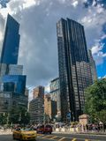 Πόλη της Νέας Υόρκης, Μανχάταν, Ηνωμένες Πολιτείες - τον Ιούλιο του 2018 οδοί, κτήριο και άνθρωπος του Μανχάταν στοκ φωτογραφία