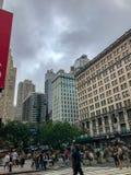 Πόλη της Νέας Υόρκης, Μανχάταν, Ηνωμένες Πολιτείες - τον Ιούλιο του 2018 οδοί, κτήριο και άνθρωπος του Μανχάταν στοκ φωτογραφία με δικαίωμα ελεύθερης χρήσης