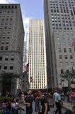 Πόλη της Νέας Υόρκης, στις 2 Ιουλίου: Rockefeller Plaza στο Μανχάταν από πόλη της Νέας Υόρκης στις Ηνωμένες Πολιτείες Στοκ Εικόνες