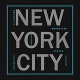 Πόλη της Νέας Υόρκης - σύγχρονη τυπογραφία για τα ενδύματα σχεδίου, αθλητική μπλούζα Γραφική παράσταση για το προϊόν τυπωμένων υλ ελεύθερη απεικόνιση δικαιώματος