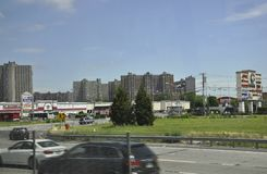 Πόλη της Νέας Υόρκης, την 1η Ιουλίου: Κόλπος PLaza σε Bronx από πόλη της Νέας Υόρκης στις Ηνωμένες Πολιτείες στοκ φωτογραφίες