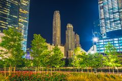 Πόλη της Νέας Υόρκης τη νύχτα, Μανχάταν Στοκ Εικόνες