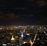 Πόλη της Νέας Υόρκης τη νύχτα στοκ εικόνα με δικαίωμα ελεύθερης χρήσης