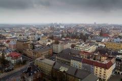 Πόλη της Οστράβα - προοπτική από το νέο Δημαρχείο Στοκ Φωτογραφία