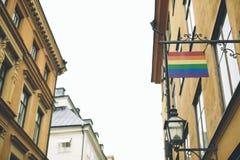 Πόλη της Στοκχόλμης, άποψη της οδού Στοκ Εικόνα