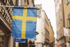 Πόλη της Στοκχόλμης, άποψη της οδού Στοκ φωτογραφίες με δικαίωμα ελεύθερης χρήσης
