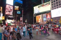 Πόλη της χρονικής τετραγωνική Νέας Υόρκης Στοκ εικόνα με δικαίωμα ελεύθερης χρήσης