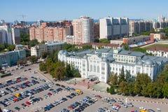 Πόλη της Samara, Ρωσία, όψη από το ύψος στην πόλη στοκ φωτογραφίες