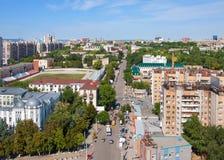 Πόλη της Samara, Ρωσία, όψη από το ύψος στην πόλη στοκ εικόνες με δικαίωμα ελεύθερης χρήσης