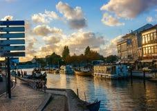 Πόλη του Αβέιρο Πορτογαλία όμορφη για τα χρώματά του και την επαγγελματική φωτογραφία πολιτισμού του που λαμβάνονται από την της  Στοκ Φωτογραφίες