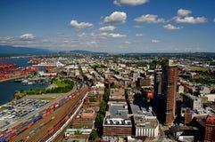 Πόλη του Βανκούβερ, Καναδάς από ανωτέρω Στοκ εικόνα με δικαίωμα ελεύθερης χρήσης