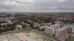 Πόλη του Ζάγκρεμπ Κροατία από το νότιο μέρος ουρανού απόθεμα βίντεο