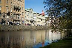 Πόλη του Καίμπριτζ και ποταμός, Αγγλία Βρετανική αρχιτεκτονική Στοκ εικόνα με δικαίωμα ελεύθερης χρήσης