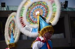 Πόλη του Μεξικού, Μεξικό 9 Δεκεμβρίου 2018: Οι προσκυνητές γιορτάζουν τους εορτασμούς στη βασιλική του Guadalupe στοκ φωτογραφίες
